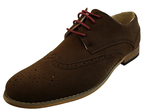 mens smart casual lace up faux suede brogues office shoes